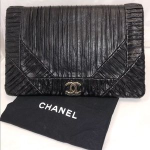 Chanel Leather Coco Pleats Clutch 2018 Collection